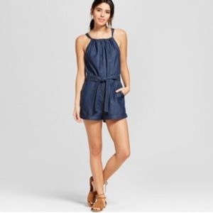 Universal Thread Denim Romper halter